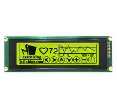 5.2 inch 240x64 T6963C LCD 24064 Display Graphic Module,Black on YG ERM24064SYG-1